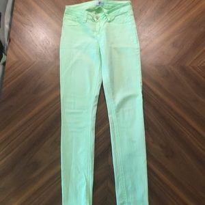 Lime green skinny jeans